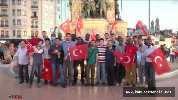 Yabancı Öğrenciler Darbe Girişimini Protesto Ettiler
