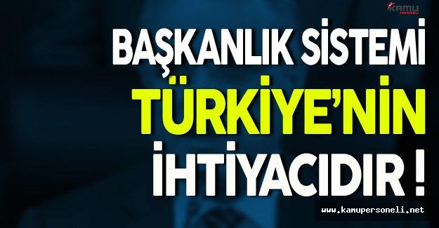 Yalçın Topçu: Başkanlık Sistemi Türkiye'nin Bir İhtiyacıdır