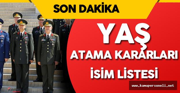 YAŞ Kararları Resmi Gazete'de Yayımlandı - TSK ve MSB Atama Kararları