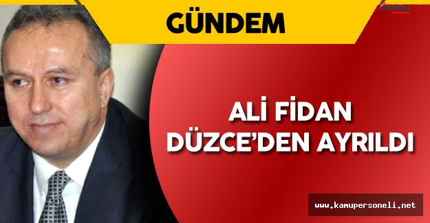 Yeni Milli Savunma Müsteşarı Ali Fidan , Düzce'den Ayrıldı