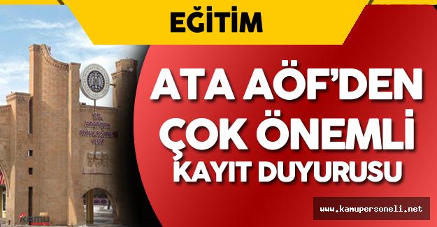 YGS Sonucu ile Atatürk Üniversitesi Açıköğretim Fakültesi'ne Yerleşen Öğrenciler Dikkat