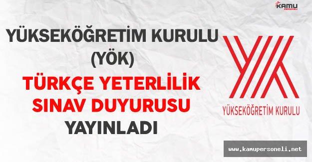 YÖK Türkçe Yeterlilik Sınavı (TYS) Duyurusu Yayınladı
