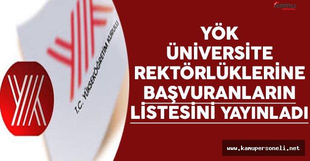 YÖK üniversitelerin rektör adaylarını açıkladı