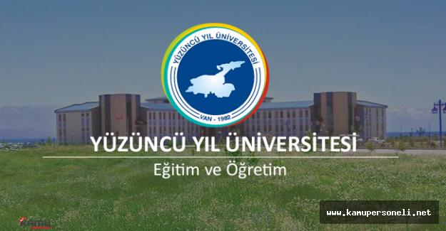 Yüzüncü Yıl Üniversitesi 6 Sözleşmeli Personel Alımı Başvuruları Başladı