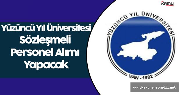 Yüzüncü Yıl Üniversitesi Personel Alım İlanı