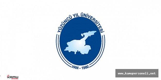 Yüzüncü Yıl Üniversitesi Sözleşmeli Personel Alım Başvuruları Devam Ediyor