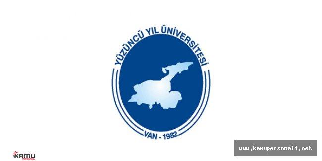 Yüzüncü Yıl Üniversitesi Sözleşmeli Personel Alım Başvuruları Sona Eriyor