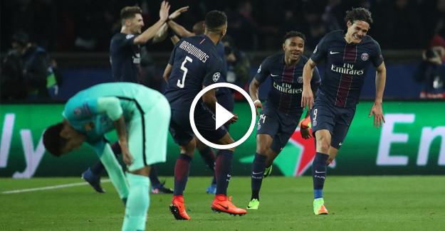 Paris Saint-Germain, Barcelona'yı Şampiyonlar Ligi'nde bozguna uğrattı