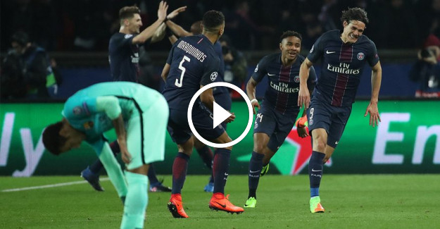 Paris Saint-Germain, Barcelona#039;yı Şampiyonlar Ligi#039;nde bozguna uğrattı