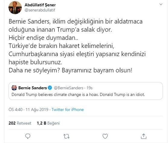 Abdüllatif Şener'in Bayram mesajı gündem oldu!