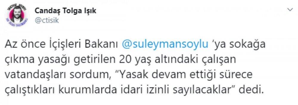 Bakan Soylu'dan 20 yaş altında olup çalışanlar hakkında flaş açıklama!