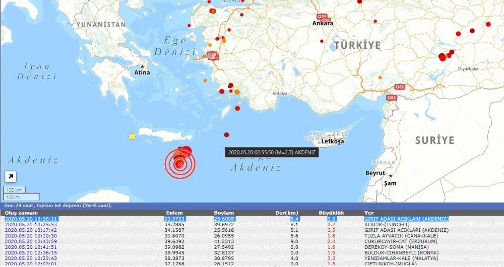 Akdeniz beşik gibi sallanıyor! Deprem üstüne deprem oldu!
