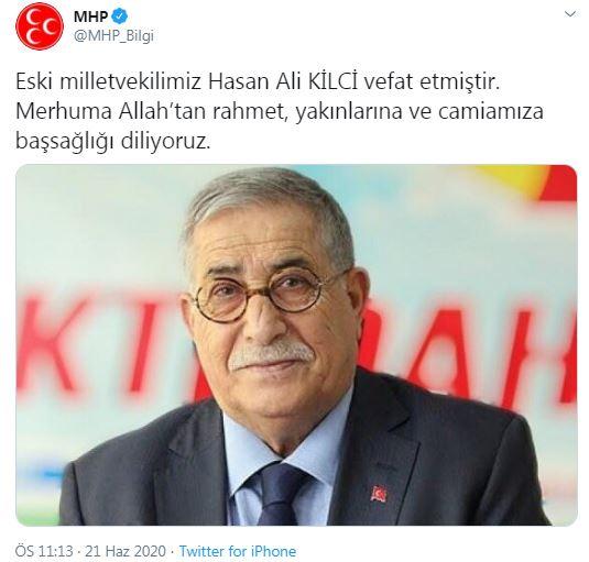 MHP'yi sarsan ölüm haberi! Eski MHP Milletvekili öldü
