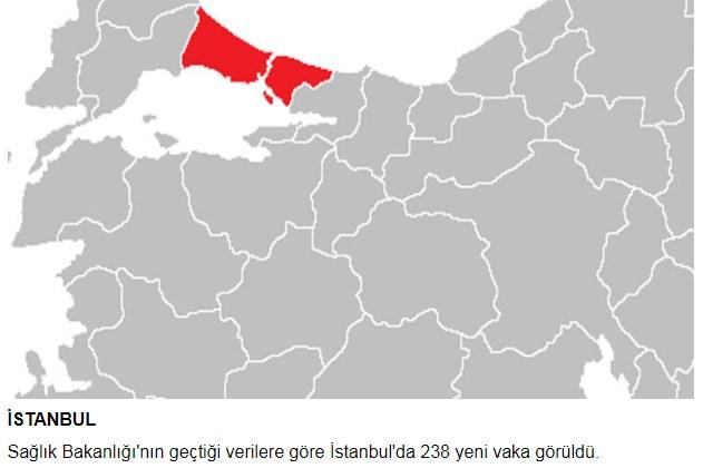 Corona virüs vaka sayıları bölge bölge açıklandı! Bir ilde 24 Saatte 238 yeni vaka görüldü