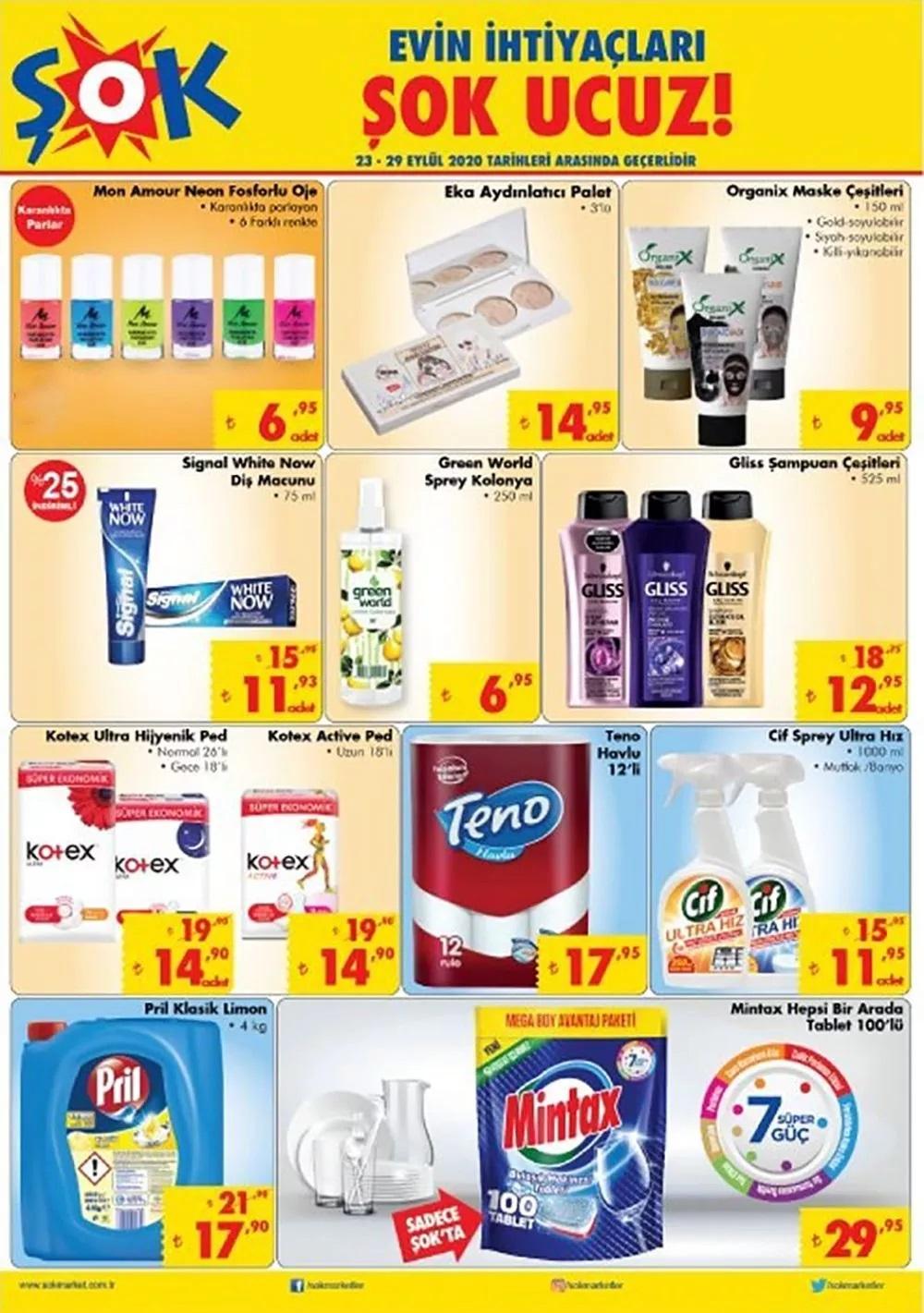 23-29 Eylül Şok Aktüel ürünler dikkat çekti! 23 Eylül ŞOK Aktüel ürünler kataloğu