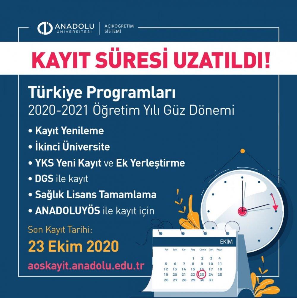 Anadolu Üniversitesi son dakika duyurdu! AÖF kayıt tarihleri uzatıldı! AÖF kayıtları ne zaman 2020?