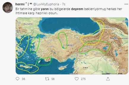 Herkes bu haritayı konuşuyor! Yarın bu bölgelerde deprem bekleniyor iddiası gündeme bomba gibi düştü!