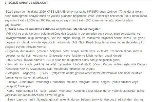 Ceza infaz kurumlarına memur alımı başvuruları 27 Kasım'da Başlıyor!
