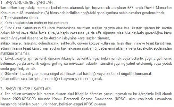 Geyve Belediyesi 8 zabıta memuru alımı yapacak