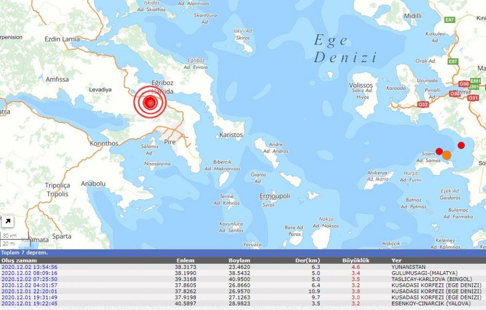 Son dakika Ege'de 4.6 şiddetinde korkutan deprem! Çevre illerden hissedildi