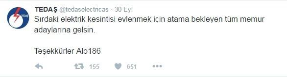 TEDAŞ' ın Parodi Hesabından Yüzünüzü Güldürecek Efsane Tweetler