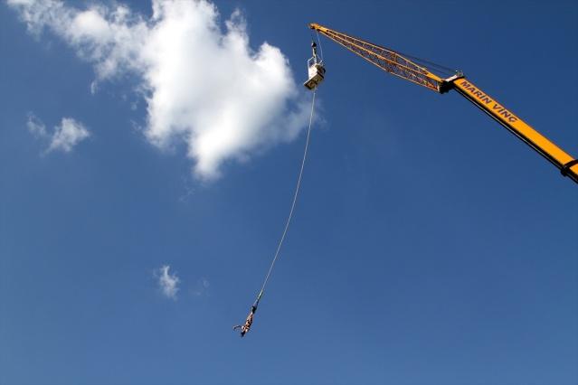 """Saklıkent Kanyonu'nda """"bungee jumping"""" Heyecanı"""