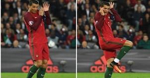 Ronaldo'nun beklenmedik hareketi geyik konusu oldu