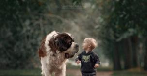 Çocuklar ve Hayvanların Muhteşem Uyumunu Anlatan Photoshop Çalışmaları