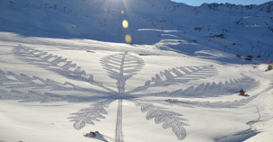 Kar Üzerinde Yapılmış Muhteşem Sanat Eserleri