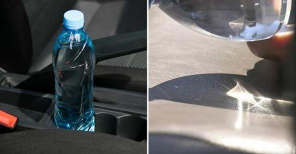Sürücüler Dikkat! Arabanızda Pet Şişe Bırakmayın