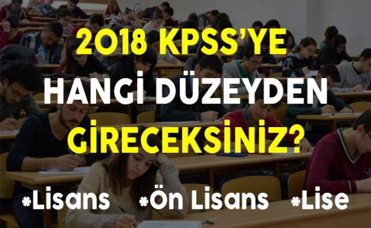 2018 KPSS'ye Hangi Düzeyden Gireceksiniz?