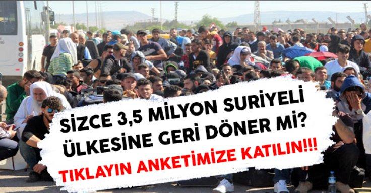 Sizce 3.5 milyon Suriyeli ülkesine geri döner mi?