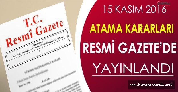 3 Bakanlığı Ait Atama Kararları Resmi Gazete'de Yayınlandı