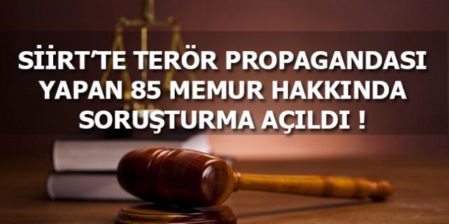 Siirt'te Terör Propagandası Yapan Memurlar Hakkında Soruşturma Açıldı