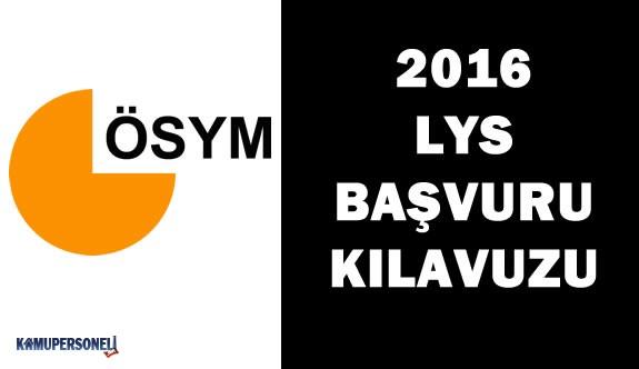 2016 LYS Başvuru Kılavuzu Yayımlandı
