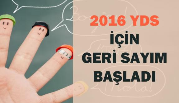 2016 YDS İçin Geri Sayım Başladı