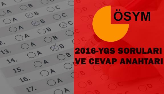 2016-YGS Soru Kitapçığı ve Cevap Anahtarı Yayımlandı
