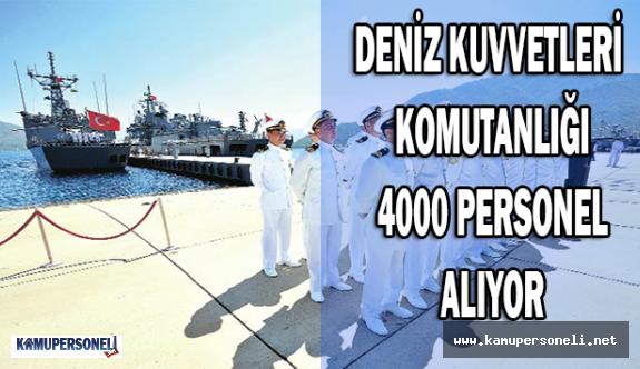 Deniz Kuvvetleri Komutanlığı 4000 Askeri Personel Alıyor