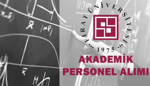 Fırat Üniversitesi 11 Akademik Personel Alıyor