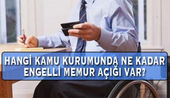 Hangi Kamu Kurumunda Ne Kadar Engelli Memur Açığı Var?