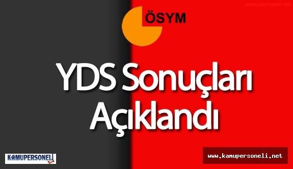 2016 YDS Sonuçları ÖSYM tarafından Açıklandı