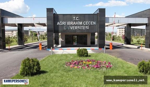 Ağrı İbrahim Çeçen Üniversitesi Akademik Personel Alımı
