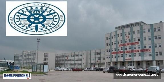 Bandırma On Yedi Eylül Üniversitesi Akademik Personel Alacak