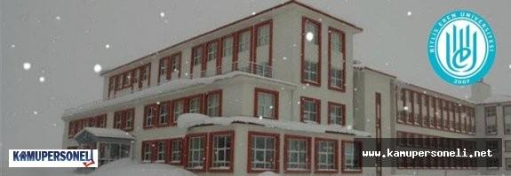 Bitlis Eren Üniversitesi 2 Akademik Personel Alacak