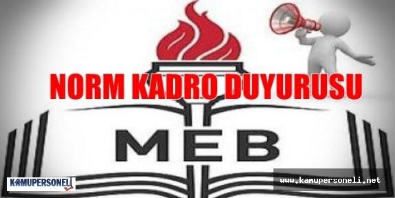 MEB'den Norm Kadro Duyurusu Yayımlandı