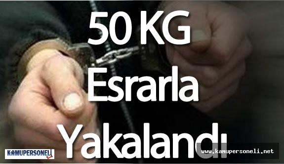 Polis Memuru 58 KG Esrarla Yakalandı