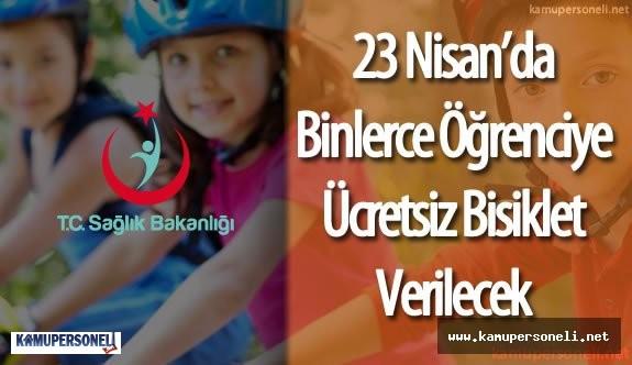 Sağlık Bakanlığı 23 Nisan'da Öğrencilere Bisiklet Dağıtacak