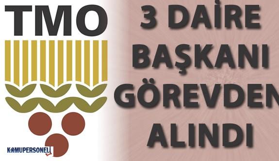 TMO 'da 3 Daire Başkanı Görevden Alındı