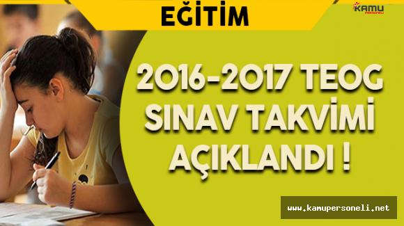 2016-2017 TEOG Sınav Takvimi Açıklandı !