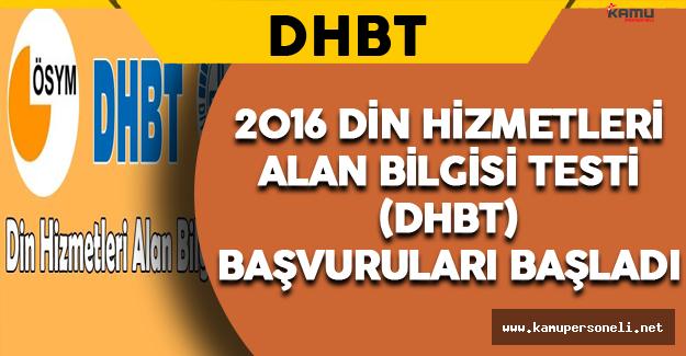 2016 DHBT Sınav Başvuruları Başladı
